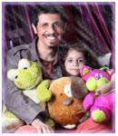 عکسهای جدید جواد رضویان و دخترش + مصاحبه