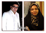 ازدواج فرزاد حسنی و آزاده نامداری مجریان محبوب ایرانی