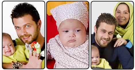 عکسهای پژمان بازعی همراه همسر و فرزندش| ariapix.net