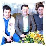 عکس های جدید جواد عزتی و بابک جهانبخش در برنامه صبح خلیج فارس