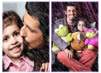 عکسهای جواد رضویان و دخترش| ariapix.net