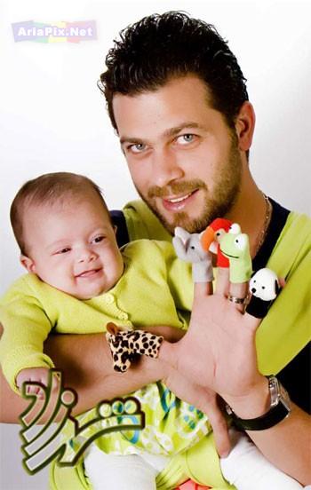 عکسهای پژمان بازعی همراه همسر و فرزندش | ariapix.net