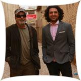 عکسهای اشکان خطیبی و سیروس مقدم در پشت صحنه خوشا شیراز