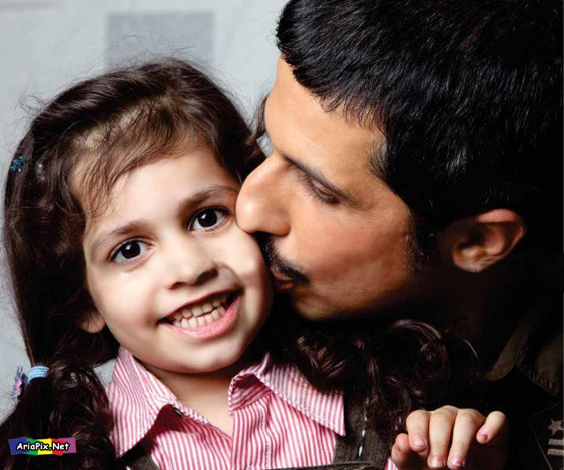 عکسهای جواد رضویان و دخترش | ariapix.net