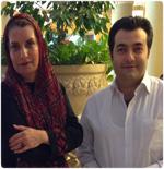 عکس های جدید هادی کاظمی و فریبا کوثری در برنامه صبح خلیج فارس
