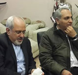 """عکسهای بازدید دکتر ظریف از پشت صحنه مجموعه """"شوخی کردم"""""""