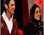 عکسهای امین حیایی و همسرش در ویژه برنامه نوروز ۹۲ شبکه ۲