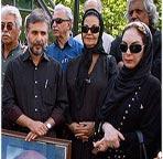 عکس های مراسم تشییع مرحوم شاپور قریب با حضور هنرمندان