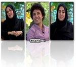 عکس های افسانه پاکرو و اشکان خطیبی در برنامه زنده رود